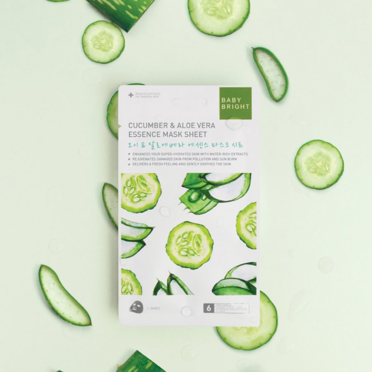 Baby Bright Cucumber & Aloe Vera Essence Mask Sheet 20g