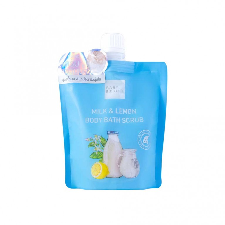 Milk & Lemon Body Bath Scrub 250g Baby Bright