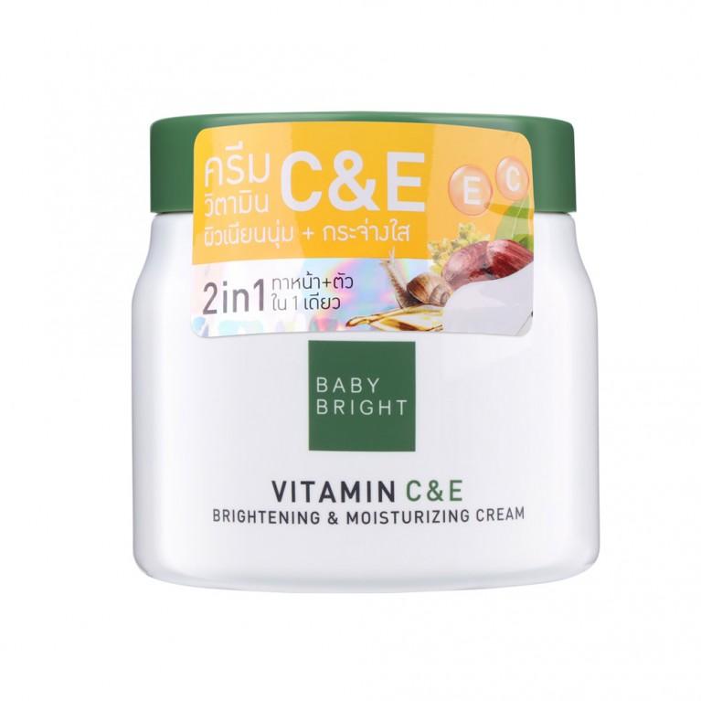 Vitamin C & E Brightening & Moisturizing Cream 500g Baby Bright