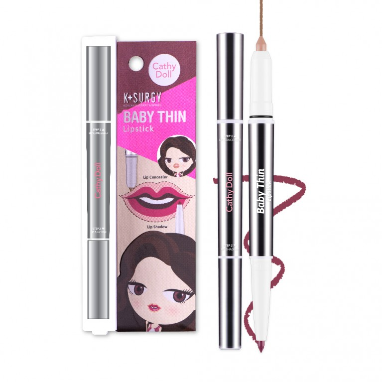 Baby Thin Lipstick 0.18+0.55g Cathy Doll K Surgy