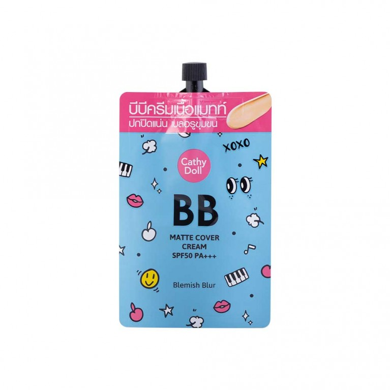 Matte Cover Blemish Blur BB Cream SPF50 PA+++ 6ml Cathy Doll #2 Medium Beige