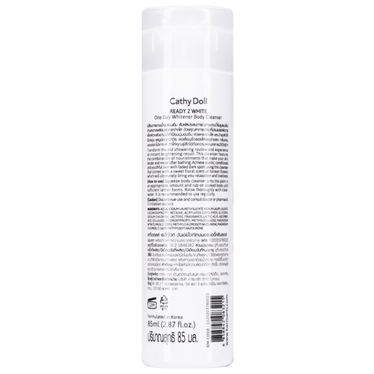 One Day Whitener Body Cleanser 85ml Cathy Doll Ready 2 White