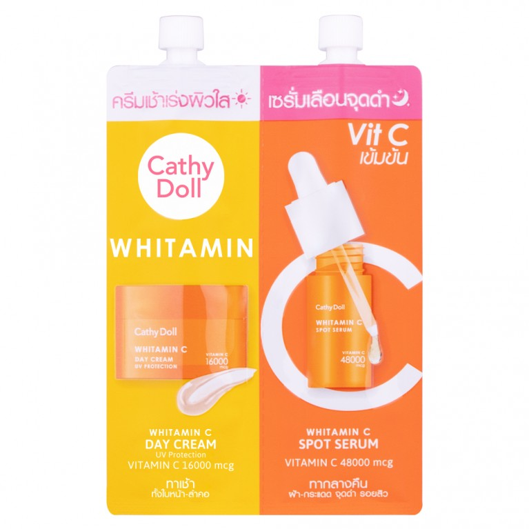 Whitamin C Day Cream & Whitamin C Spot Serum 6ml+6ml Cathy Doll