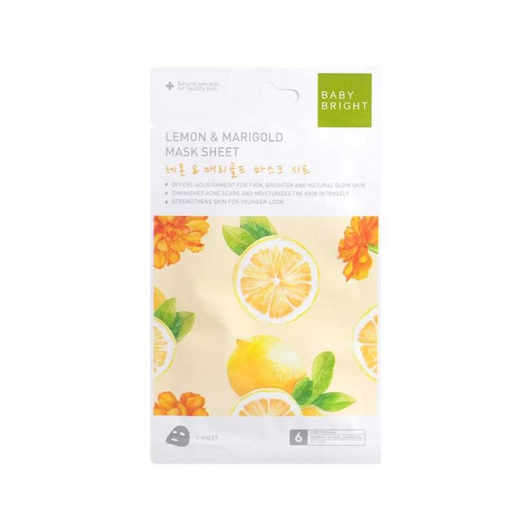 Lemon & Marigold Mask Sheet 20g Baby Bright
