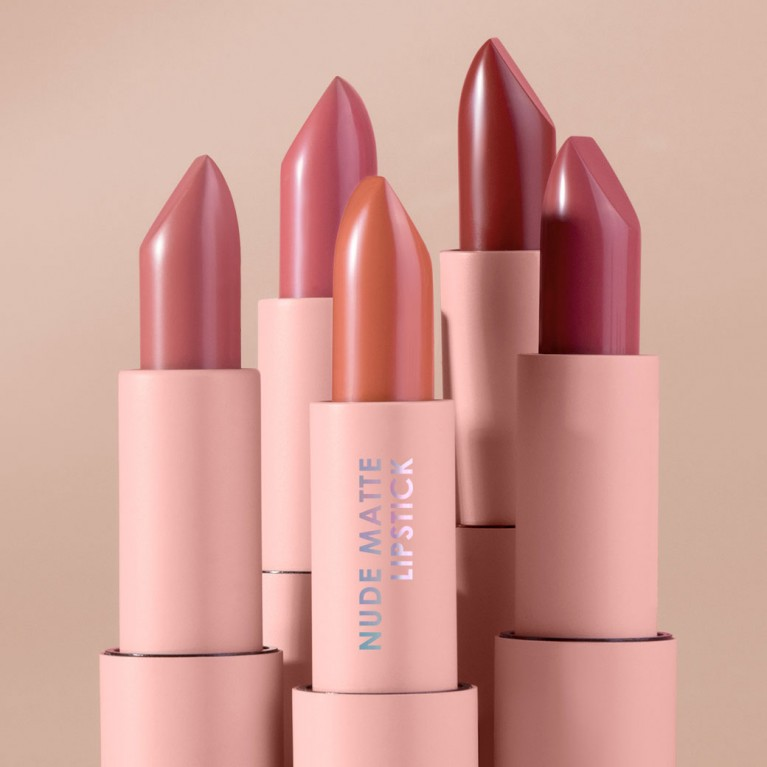 Nude Matte Lipstick 3.5g Cathy Doll FREE BRIGHT UP CLEANSING WATER 30ML