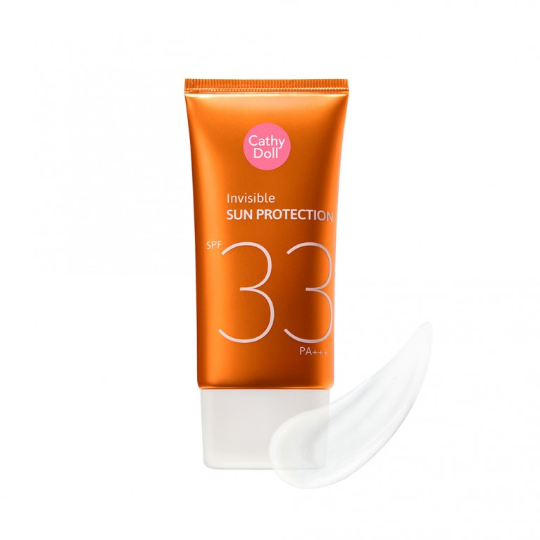 Invisible Sun Protection SPF33 PA+++ 60ml Cathy Doll (F) (Y2020) FREE UV ALERT SUN SERUM CUSHION SPF50 PA+++ 15G CATHY DOLL